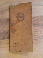 RARE Antique 1907 1908 University Wisconsin Badgers Madison 'Varsity Hand book