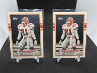 1989 Topps Traded #30T Deion Sanders Rookie Card Lot Of 2