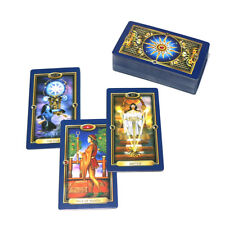 78 Tarot cards Full English gold mysterious playing board game divination deck