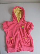 Carters Cupcake Terry Cloth Pink Hooded Jacket Bathing Swim Pool Beach Size 24M