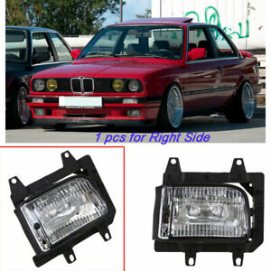 For BMW E30 1982-1987 Passenger Side Bumper Fog Light Lamp Cover Clear Lens