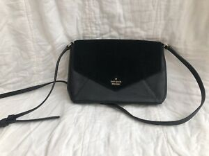 Kate Spade Suede And Leather Black Envelope Crossbody Purse Nordstrom Exclusive
