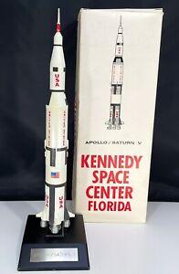 Apollo Saturn V Rocket Kennedy Space Center Florida NASA Desk Model Box