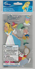 Disney ALICE IN WONDERLAND 3D Stickers mad hatter white rabbit tea party cups