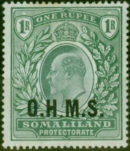 Somaliland 1904 1R Green SG015 Good Mtd Mint