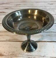 F.B. Rogers Silver Company Antique Pedestal Candy Dish Bonbons Silver Plate