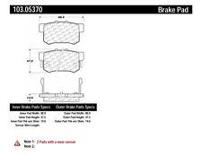 Disc Brake Pad Set-Disc, Sedan Rear,Front Centric 103.05370