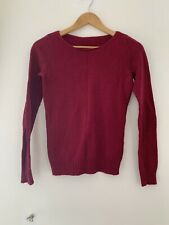 Ladies Jumper 10  Red Long Sleeve Casual Knitwear JJ12376 X