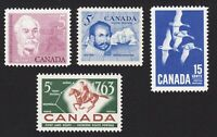 Canada = 1963 Year Partial MNH Collection = #410, 412-413, 415 q08
