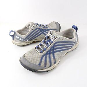 Merrell Road Glove Dash II Womens US 6 EUR 36 Gray/Blue Running Shoes J58090