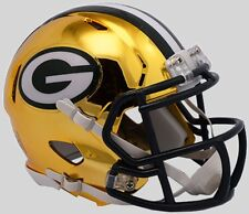 GREEN BAY PACKERS NFL Riddell SPEED Mini Football Helmet CHROME