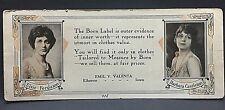 1915 blotter..EMIL VALENTA STORE Elberon, Iowa Tama Co..w/ 2 silent screen stars