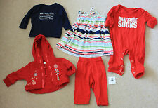 5 items Red & Navy Snuglo Mamas & Papas dress cardy top sleepsuit 0 to 6 months