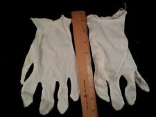 6 pair Halloween White cotton gloves  unisex  8 in. Med Large Gardening Liners