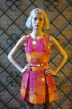Carl rückardt kg miniabito 70er True Vintage Abito Woman Dress Flower Power Rosa