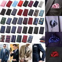 Fashion Mens Satin Solid Pocket Square Handkerchief Hanky For Wedding Party