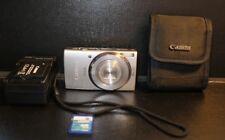 Canon IXUS 155 20.0MP Digital Camera - Silver w. 2GB Memory Card, Charger, Case