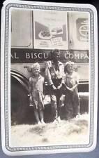 SAN ANTONIO TX NABISCO UNEEDA BISCUIT TRUCK 1930s 3 children