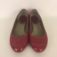 Cole Haan Air Womens Red Quilted And Patent Leather Ballet Flats Size 6.5M