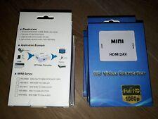 Convertitore Video Mini HDMI a RCA riconoscimento AV HDMI 2AV 1080P 720P nella casella Nuovo di Zecca