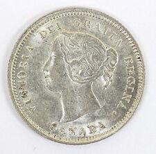 1890 H Canada - 5 Cent Silver Km-2 Victoria - CH AU #01264319g