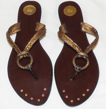 ZU bejewelled DIAMANTE Flat thongs 7  7.5 sandals heel shoe BUY3+ITEM= FREE POST
