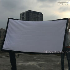 100 Inch 16:9 Portable Front Project Home Cinema Projector Screen Curtains Film