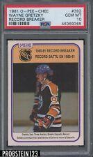 1981 O-Pee-Chee OPC Hockey Record Breaker #392 Wayne Gretzky Oilers PSA 10