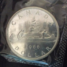 1966 Canada Dollar Proof-Like Silver Canadian Coin in Cellophane A5265