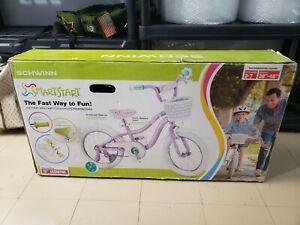 Schwinn Jasmine Girls Bike with Training Wheels 16-Inch Wheels Kids Bike