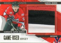 SAMUEL MORIN 13-14 IN THE GAME HEROES GOLD PROSPECTS SUBWAY SERIES GAME-USED 1/1