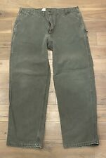 Vintage Carhart Green pants Canvas work pant style pants Made In Usa 46 X 34