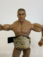 2005 WWE Randy Orton Jakks Wrestling Action Figure + Championship Belt Knee Pads