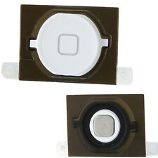 Genuine iPhone 4S 4GS White Home Button with Rubber Pad & Metal Spacer Original