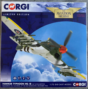 Corgi Aviation Archive AA36509 Hawker Typhoon 247 Sqn RAF Eindhoven Dec 44 BNIB