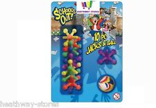 10 JAX AND BALL RETRO GAME JACKS CATCH TOY NEW KIDS FUN CLASSIC PARTY LOOT GIFT
