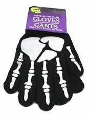 GLOW - Gothic Kids Stretch SKELETON HANDS BONES GLOVES Cosplay Costume Accessory