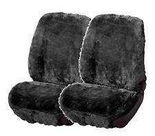 2 Stk. Universal Autositzfelle anthrazit, Lammfell Sitzbezüge mit Webpelz
