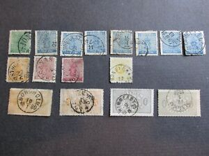 Collection of Old Sweden Stamps High Values used