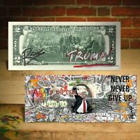 DONALD TRUMP The Art of the Deal Genuine $2 U.S. Bill  - HAND-SIGNED by Rency