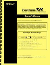 Roland Fantom XR Voice Synthesizer Sampler Module OWNER'S MANUAL