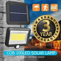 30W 100 LED Solar Power Sensor Motion Light Security Garden Flood Wall Lamp HOT