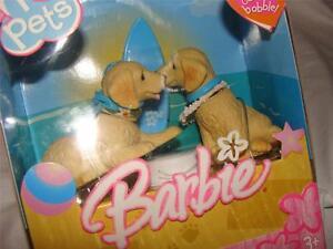 NEW IN BOX 2005 BARBIE I LOVE PETS BOBBLE HEAD DOGS~FREE US SHIP