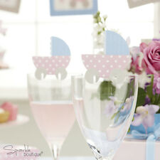 Baby Shower GLASS DECORATIONS -Unisex Place Cards- FULL TINY FEET RANGE IN SHOP!
