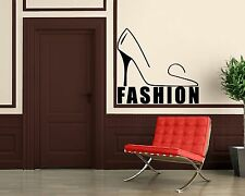 Wall Stickers Vinyl Decal Fashion Style Female Shoes Shopping Wall  ig073