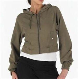 Nike Olive Green RRP £60 Khaki Hooded Training Track Top Fast Free Shipping BNWT