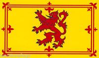 """SCOTLAND LION FLAG 18"""" X 12"""" Scottish Scots BOATS TREEHOUSES CARAVANS GLASGOW UK"""
