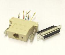 RJ12 to DB25 Female (5 pcs) Modular Adaptor - RJ12 6P6C - D-Sub 25 Pin