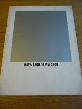 BMW 2500 & 2800 BROCHURE  jm