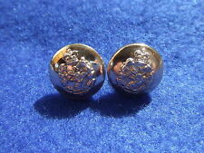 A PAIR, ROYAL ARMY DENTAL CORPS 14MM GOLD MILITARY CAP BUTTONS, 2 ITEMS